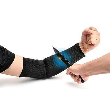 Manga de protección del brazo corte guantes de protección Anti-Cut Negro Kevlar Sleeve Arm
