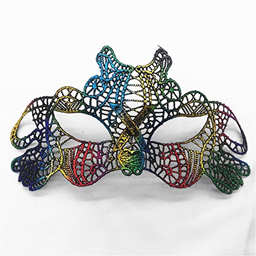 Mardi Gras Party Masquerade Mask,Bronzing lace mask Lady Makeup Dance Eye Patch Halloween Party mask UL1 Prom Masks -