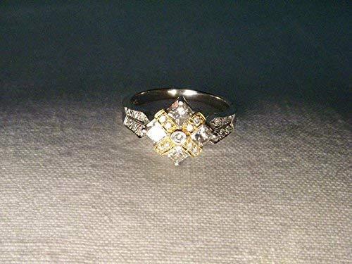 Beautiful Estate 14K White Gold Princess Diamond Band Ring