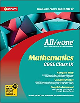 CBSE All In One Mathematics CBSE Class 9 for 2018 - 19: Amazon in
