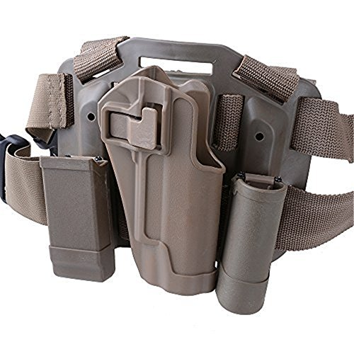 AGPtek Quick Tactical Military Special Forces Right Hand Paddle & Leg Belt Fit Drop Leg Gun Holster for Colt 1911 - (Gun Leg Holster With Belt)