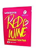 Leaving Sheet Mask Overnight 4 Mask Sheets of Watsons Antioxidant Facial Mask with Red Wine. Which Help Skin Rejuvenation, Leaving You with More Refined and Supple Looking Skin. (21 Ml Essence/ sheet)