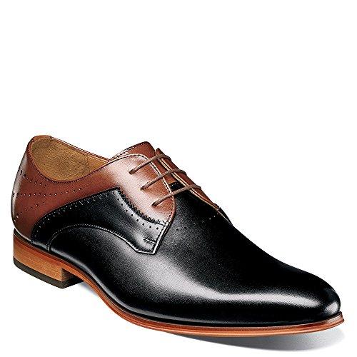 Stacy Men's Lace Toe Savion Oxford Adams Black Cognac up Plain W6H574W