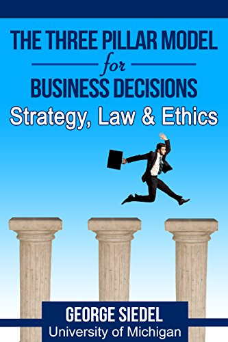 The Three Pillar Model for Business Decisions: Strategy, Law and Ethics cover