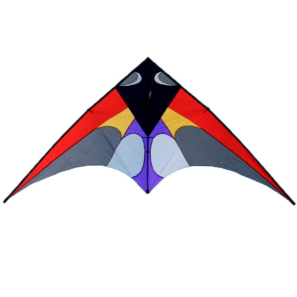 三角形の凧、飛ぶこと容易な大きい樹脂棒のそようの凧の大人の屋外のビーチ凧、300 * 136CM (色 : 緑) B07R4FBDPV 赤  赤