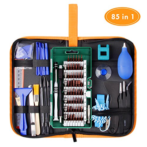 WOWGO Precision Screwdriver Set, 85 in 1 Cell Phone Repair Tool Kit, Magnetic Driver Kit with Portable Bag for iPad, PC, Laptop,Watch ()