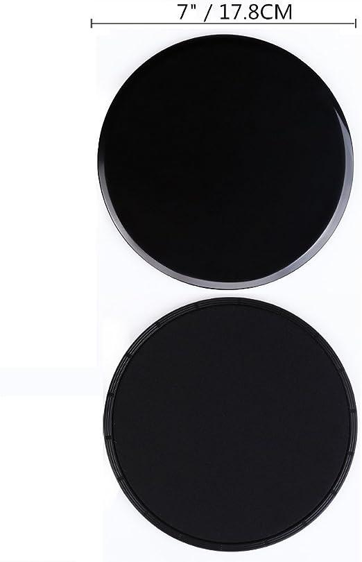 COVVY Core Sliders Discos de Deslizamiento de Ejercicio de Doble Lado Uso en Pisos de Madera Dura de Alfombra para Ejercicios Abdominales y básicos, ...