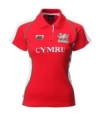 316391d1fb6 Manav (UK) Ladies Welsh Fashion Rugby Shirt (Printed Cymru): Amazon.co.uk:  Clothing