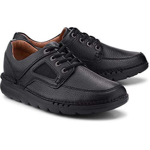 Clarks unnature Tempo Mens Extra Largo Casuale Scarpe Nero