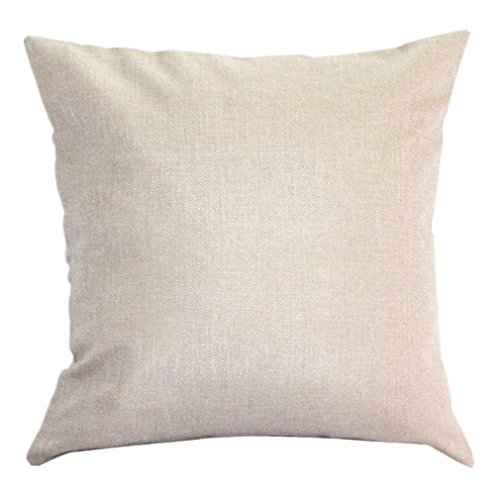 Aremazing Cotton Linen Throw Pillow Case Cushion Cover Home Office Decorative 18 X 18 Inches ...