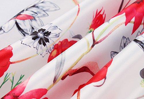 Cocktail Plisse Longueur t Ajoure Rouge2 de Rtro Imprime Jupes Mode Jupe Soire Pretty de Fte Plage Jupe Femmes Elegante Genou U7w5rU
