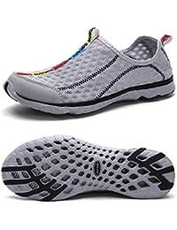Mxson Men's Slip On Sneaker Mesh Casual Sports Walking Beach Aqua Swimming Pool Water Shoes