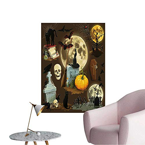 Wall Art Prints Clip Art s for Halloween Celebration for Living Room Ready to Stick on Wall,28