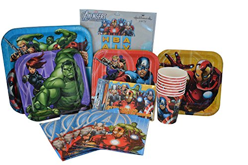 Marvel Avengers Birthday Party Supplies. Marvel Avengers Paper Plates, Avengers Napkins, Avengers Cups, Avengers Invitations and Avengers Birthday Banner