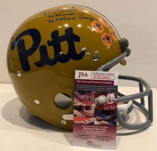 (Tony Dorsett Autographed Signed Inscribed Pitt Panthers Authentic Full Size Helmet Memorabilia JSA)