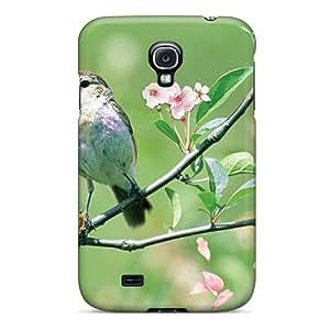 For Galaxy S4 Fashion Design Spring Sakura Bird Case-qYOyg15812SrAYG