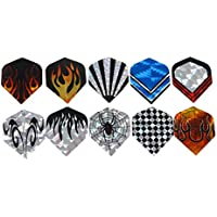 Generic Nice Laser Reflective Darts Tail 10 Sets/30Pcs 2D Bling Dart