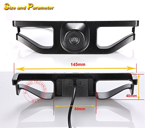 Middle Navinio Vehicle Car Front View Logo Embedded Camera Parking System with CCD Waterproof IP67 Wide Degree Black for 2016 New Subaru Forester