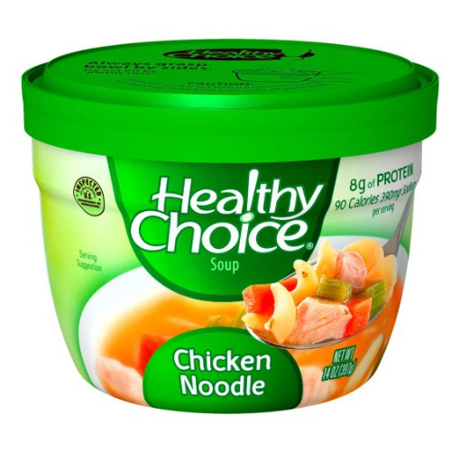Healthy Choice Microwave Chicken Noodle Soup, 14-Ounce(Pack of (Old Fashioned Chicken Noodle Soup)