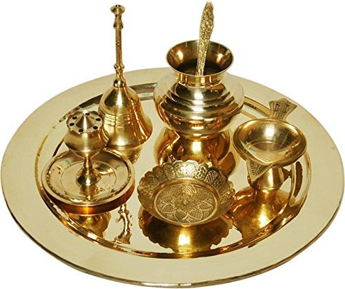 Indian Trades brass pooja thali set by Indian Trades