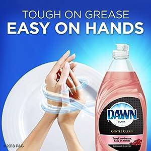 Dawn Gentle Clean Dishwashing Liquid Dish Soap Pomegranate Splash 24 oz