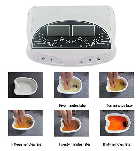 Zinnor Professhional Foot Detox,Foot Bath Detoxification Machine,Professional Dual LCD Ionic Detox Ionic Spa Cleanse Machine With Infrared Belt Large LCD 110V, Perfect Gift for the Holiday