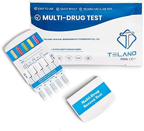 10 x Telano Multi test rápido de drogas para 10 tipos de drogas | cocaína - cannabis (THC) - anfetamina - metanfetamina -MDMA - opiáceos - benzodiazepinas - ketaminas - metadona - barbitúricos