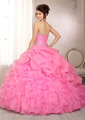 Prom Queen Womens Beaded Ball Gown Sweet 16 Dresses Princess Quinceanera Dresses at Amazon Womens Clothing store: