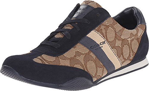 Womens Shoes COACH Kelson Outline Khaki/Midnight Navy Sig/Suede