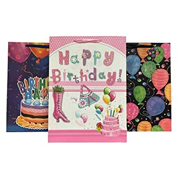 Amazon Wholesale Gift Bags Lg Happy Birthday Asst Designs