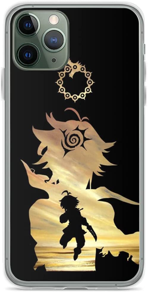 Phone Case Meliodas Seven Deadly Sins Compatible with iPhone 12 11 X Xs Xr 8 7 6 6s Plus Mini Pro Max Samsung Galaxy Note S9 S10 S20 Ultra Plus