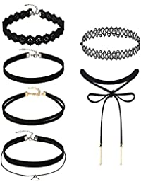 Mudder 6 Pieces Black Velvet Choker Necklaces Set Gothic...