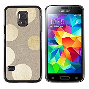 LECELL--Funda protectora / Cubierta / Piel For Samsung Galaxy S5 Mini, SM-G800, NOT S5 REGULAR! -- Beige Paper Lights Subtle --