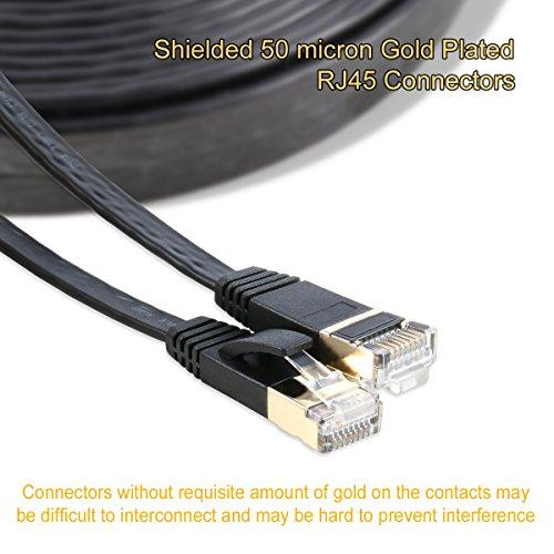 25FT CAT5 Modem Cable Black Ethernet LAN Network RJ45 Wire CAT5E PS3 XBOX