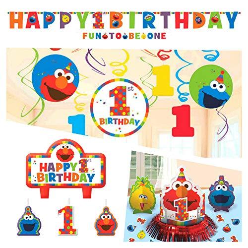 Elmo First Birthday Party Supplies (Decoration -