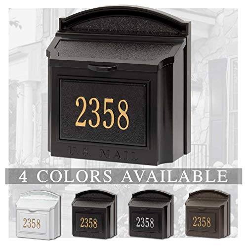 - Personalized Whitehall Wall Mailbox with Address Plaque (4 Colors Options Available)