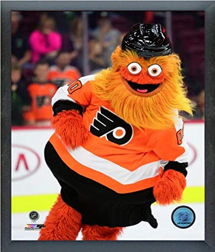 Gritty Philadelphia Flyers NHL Mascot Action Photo Size: 9 x 11 Framed