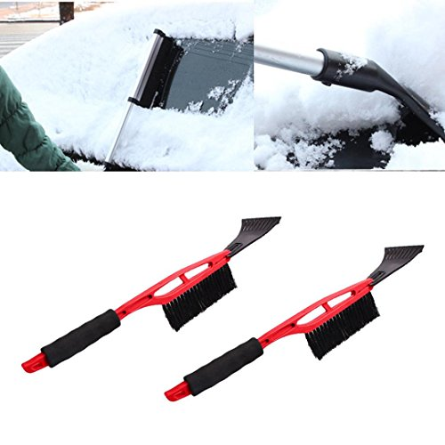 Hongxin Snow Shovel for Car, Portable Extendable Telescoping Long Handle ABS Snow Brush Shovel Ice Scraper with Brush for Garden Outdoor Car Motorcycle Truck Car Accessories Tool
