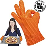 #1: BBQ Gloves Silicone BBQ Oven Gloves - Kitchen Gloves Heat Resistant Best Heat Resistant Cooking Silicone Gloves For Barbecue Grilling Boiling - Excellent Oven Mitts For Outdoor and Kitchen Use