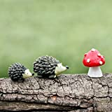 BESTIM INCUK Miniature Fairy Garden Hedgehog Mushroom Home Decoration Outdoor Deco