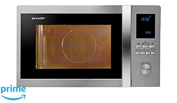 Sharp R-922STWE - Microondas (51,9 cm, 51 cm, 31,5 cm) Acero inoxidable: Amazon.es: Hogar