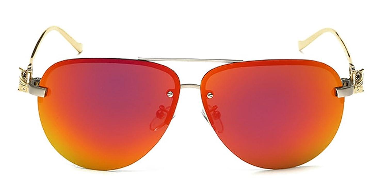 Aoron Women's UV400 Protection with Fox Mirror Lens Polarized Aviator Sunglass