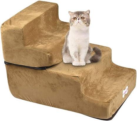 KariNao - Escalera de espuma de 4 capas para gatos y perros, útil tanto para el entrenamiento