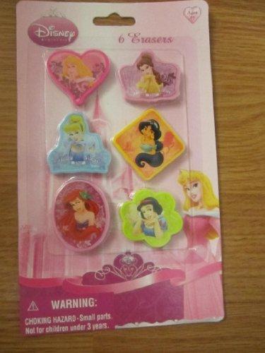 (Disney Princess 6ct Erasers)