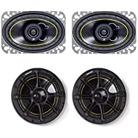 NEW KICKER DS46 4x6 100W Car Speakers + KICKER DS65 6.5 200W Car Speakers