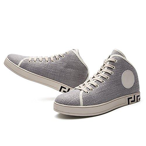 per Tacco Grigio da da Uomo Sneaker Moda con Scarpe Piatto Ginnastica Scarpe Cricket SEq1w