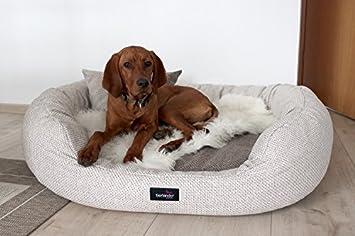 tierlando® Luxus orthopädisches Perros sofá Balou Perros cama colchón de viscoelástica Plus | mano Web Carácter | Premium de Lounge.