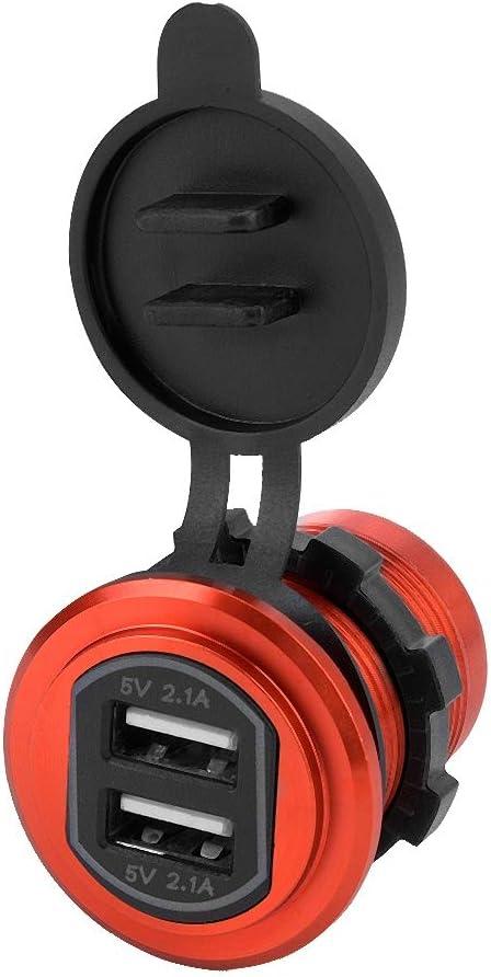 Qinlorgo 4.2A Dual USB Car Charger Socket Power