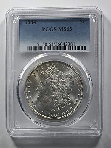 1884 Morgan Silver Dollar Dollar MS-63 PCGS