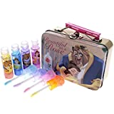 Townley Girl Disney Beauty and the Beast Super Sparkly Lip Gloss Set with Decorative Carrying Tin, 4 Fun Flavors